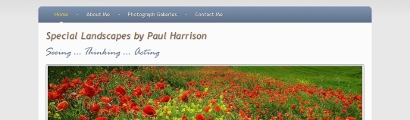 Paul Harrison Landscape Photography home page